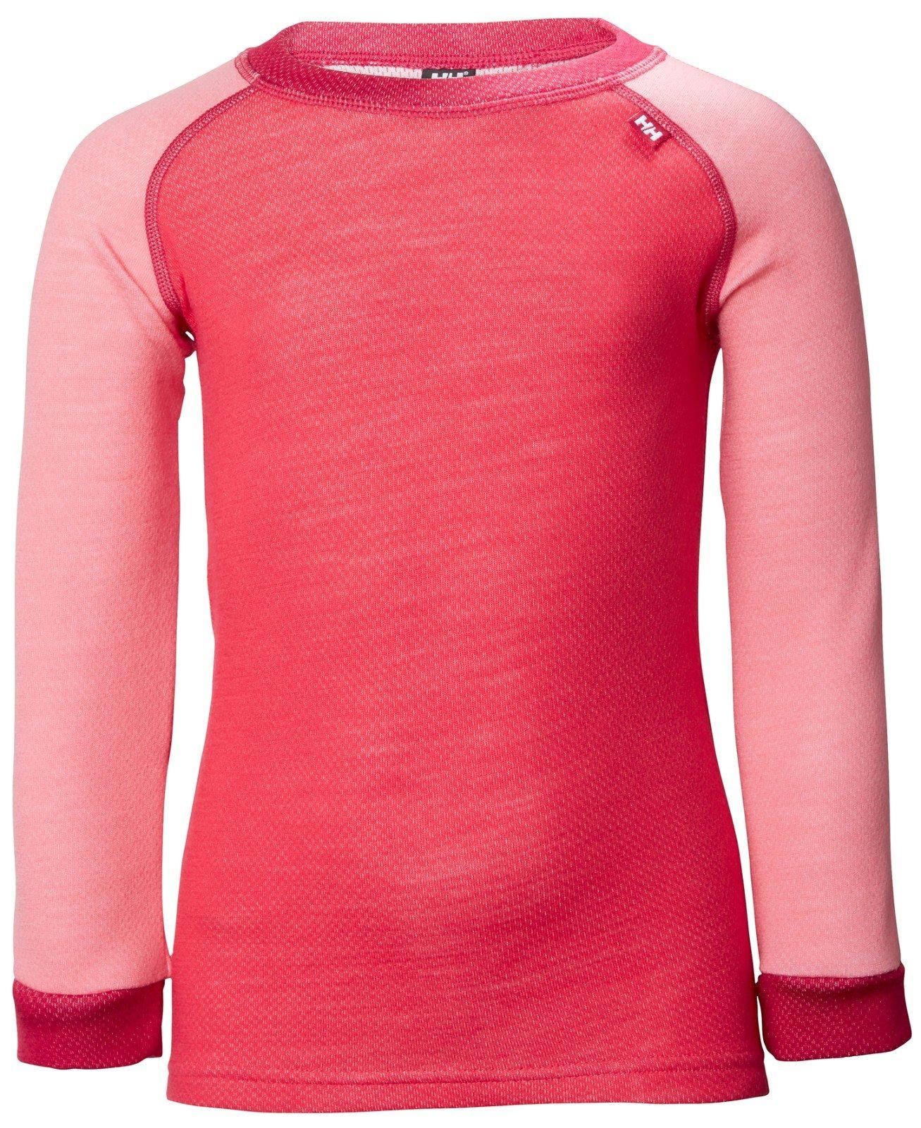 Helly Hansen Kids LIFA Merino Wool Warm Baselayer Set Top and Bottom, 167 Strawberry Pink, Size 3