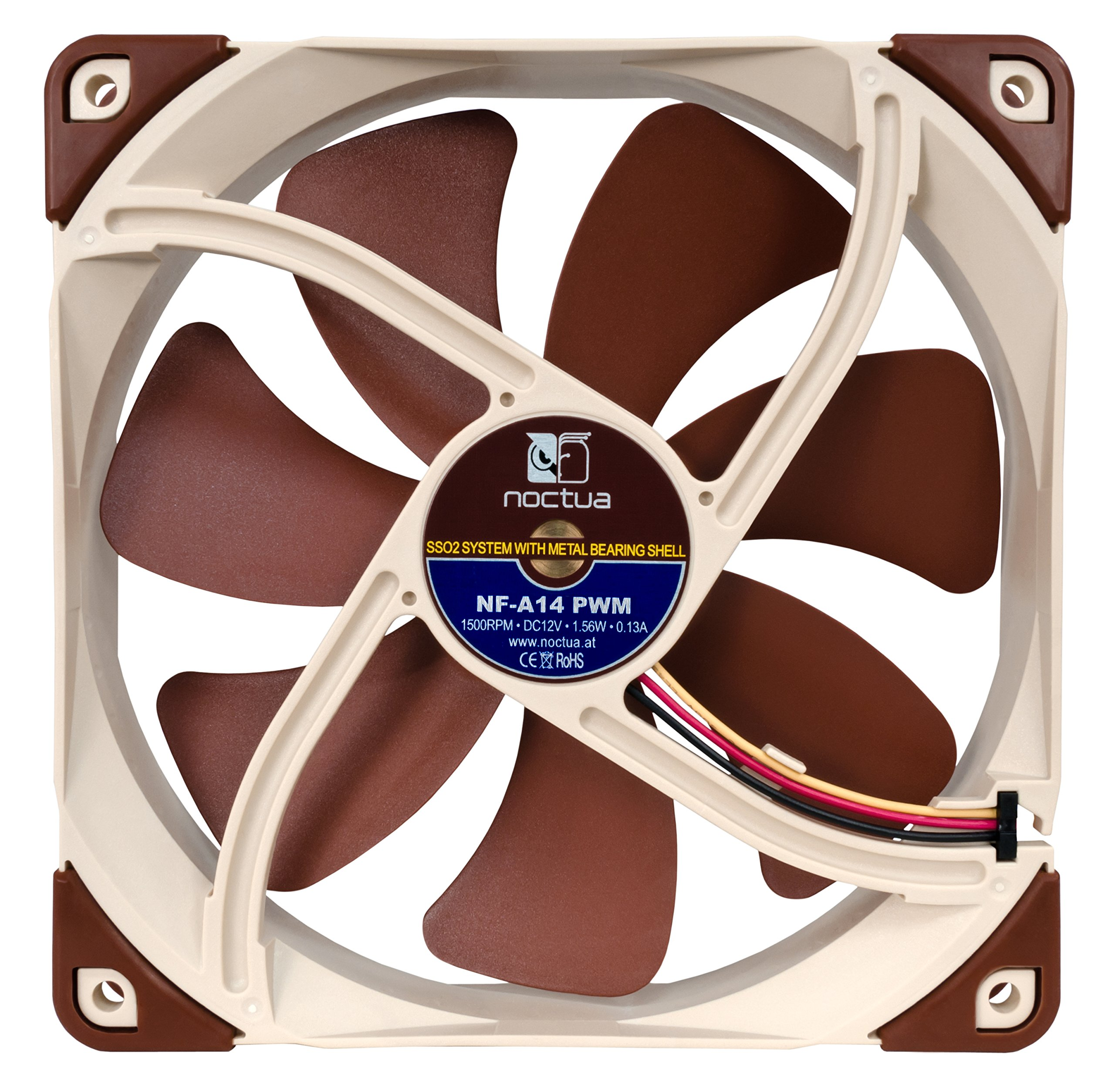 Noctua 140mm Premium Quiet Quality Fan with AAO Frame Technology (NF-A14 PWM) by noctua (Image #1)