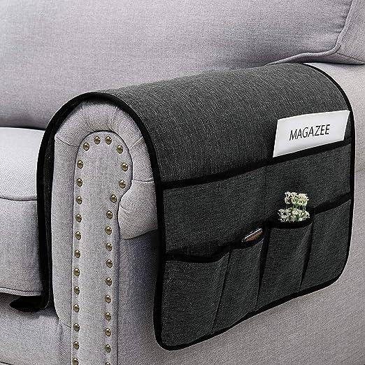 Gogdog 4 Pockets Storage Bag Sofa Handrail Couch Arm Rest Organizer Holder Remote Control Organizer Bag