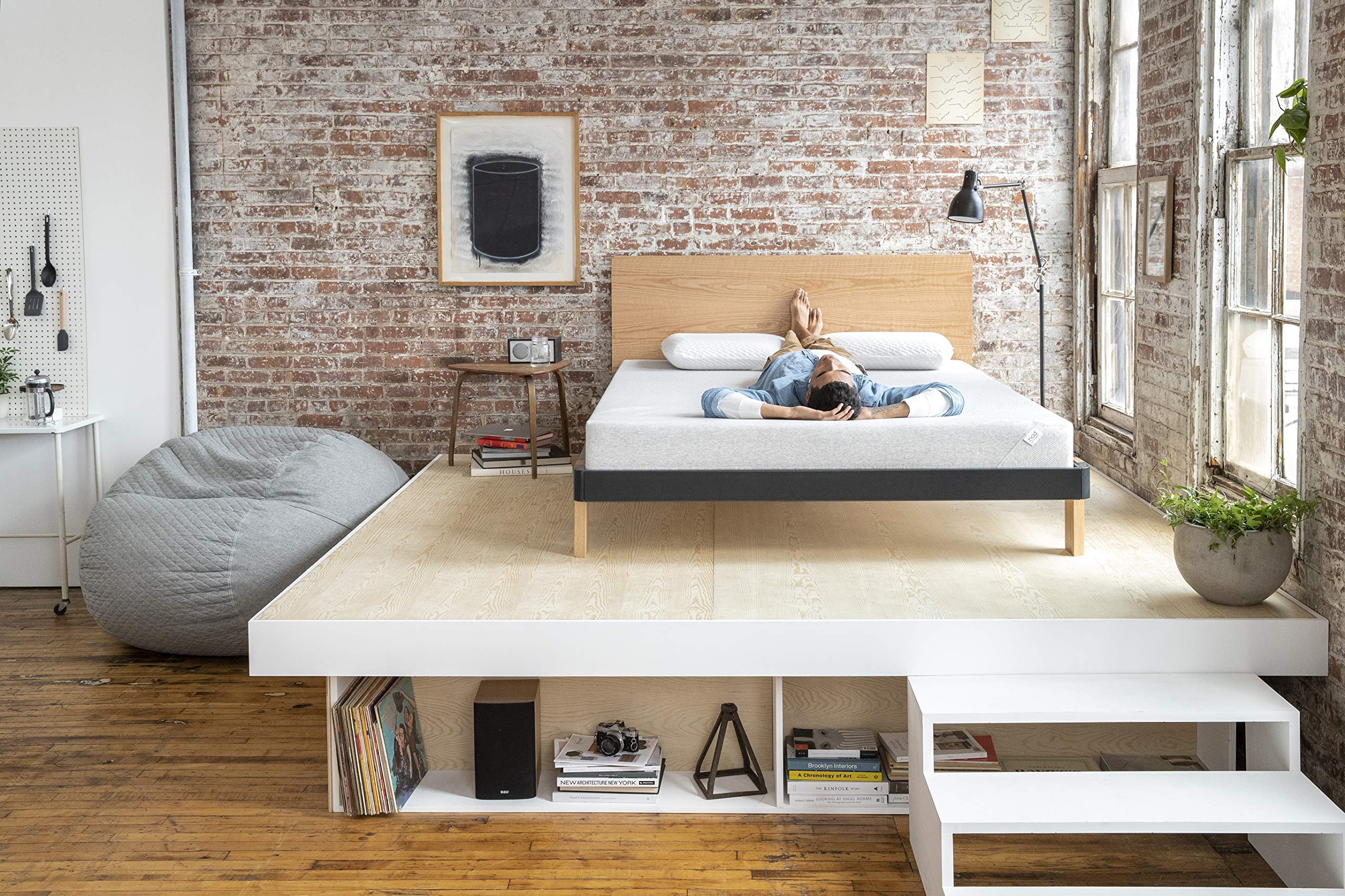 Nod by Tuft & Needle King Mattress, Amazon-Exclusive Bed in a Box, Responsive Foam, Sleeps Cooler & More Support Than Memory Foam, More Responsive Than Latex, CertiPUR-US, 10-Year Limited Warranty.