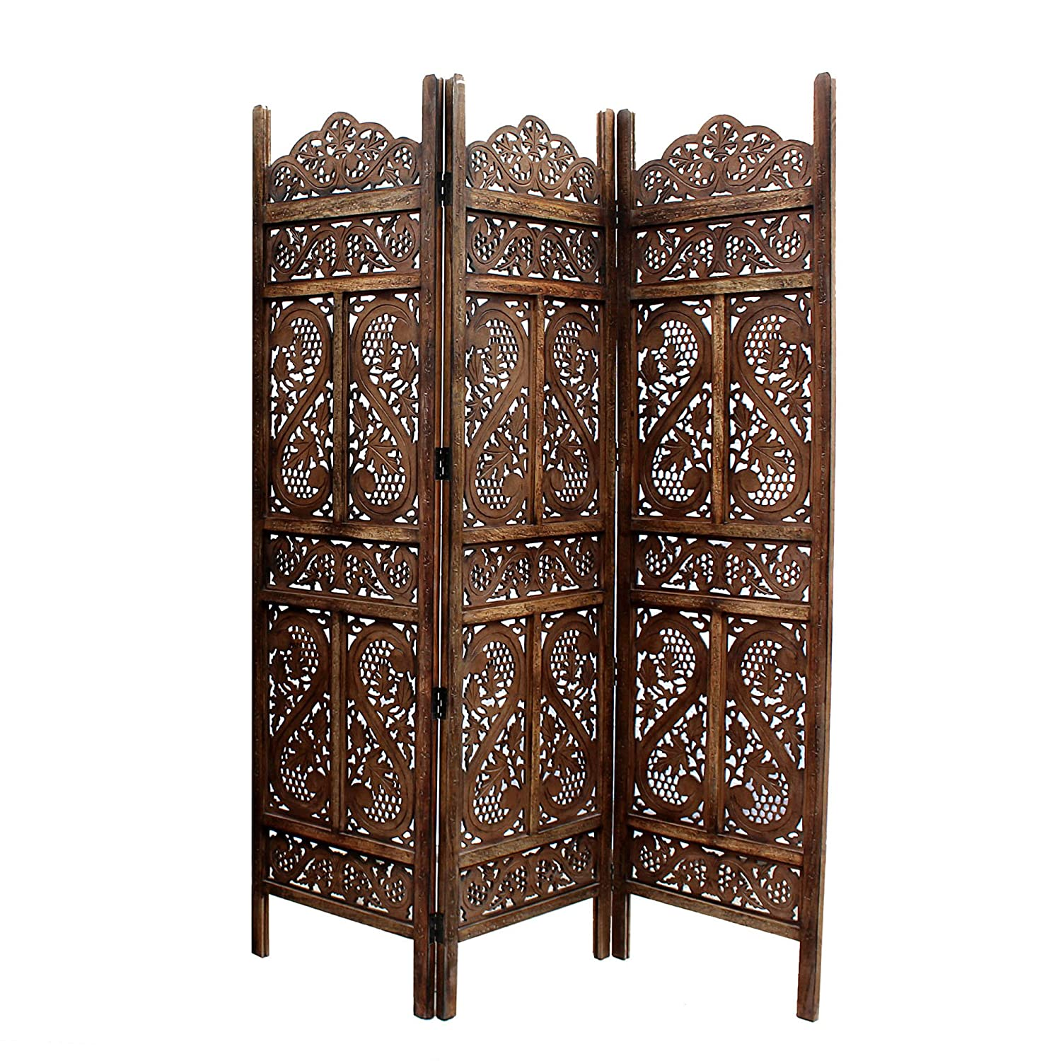 Artesia Handcrafted 3 Panel Wooden Room Partition/Screen Seperator