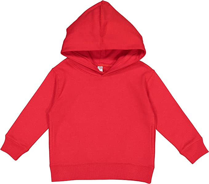 Rabbit Skins Toddler Fleece Long Sleeve Hooded Pullover Sweatshirt with Side Seam Pockets