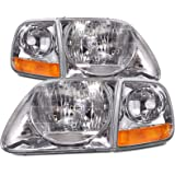 F150 F250/Expeddition Lightning Headlight 4 Piece Set Driver/Passenger New