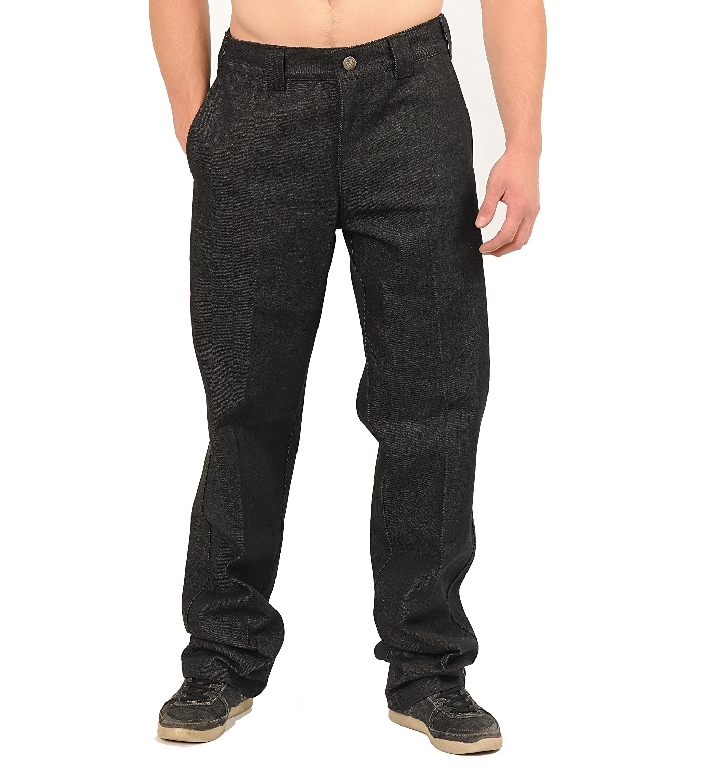 FB County Mens Hard Denim Pant Indigo Black
