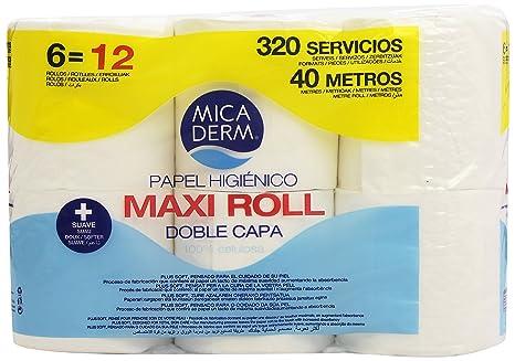 Mica Derm Maxi Roll Papel Higiénico con Doble Capa - 6 Rollos