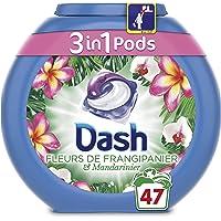 Dash 3 en 1 Pods Fleurs de Frangipanier Lessive Capsules 47 Lavages - Lot de 3