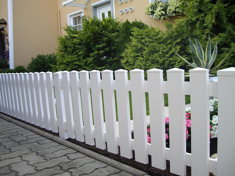 Muster Kunststoffzaun Staketenzaun Lattentzaun Gartenzaun weiß