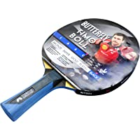 Butterfly Timo Boll Black - Pala de ping pong (2 mm, Timo Boll), color rojo