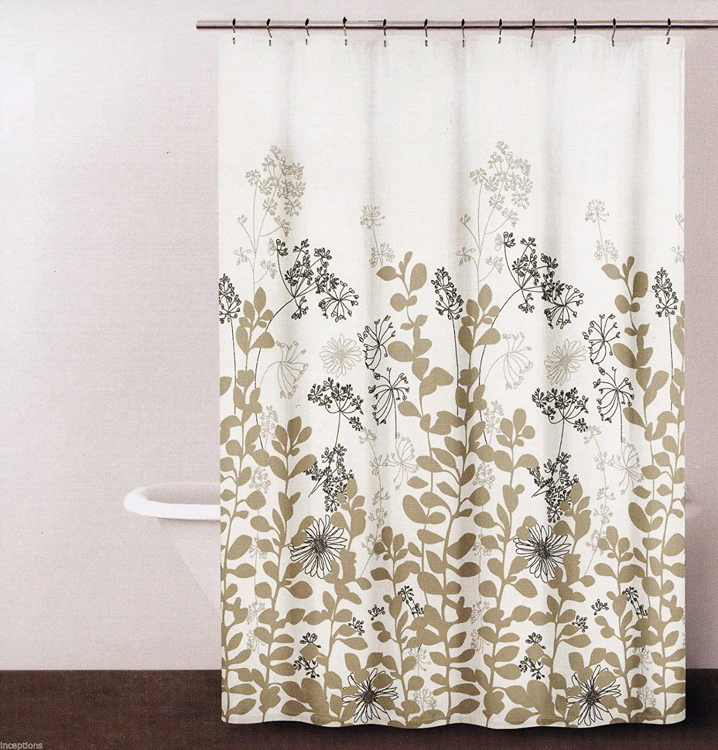 Amazon DKNY Enchanted Forest Botanical Fabric Shower Curtain Neutral On Ivory 72 X Home Kitchen