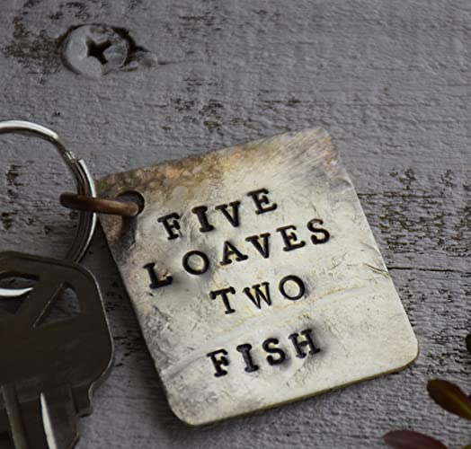 Amazon com: Five Loaves and two Fish Keychain or backpack