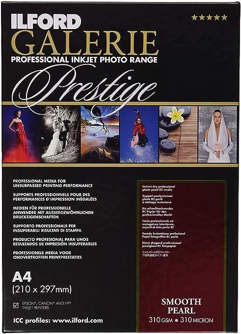 5 opinioni per Ilford Galerie Prestige Smooth Pearl- Carta fotografica, formato A4, 25 fogli,