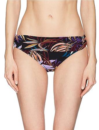 c7c57005f682 La Blanca Women's Shirred Band Hipster Bikini Swimsuit Bottom,  Black/Red/Fan Print