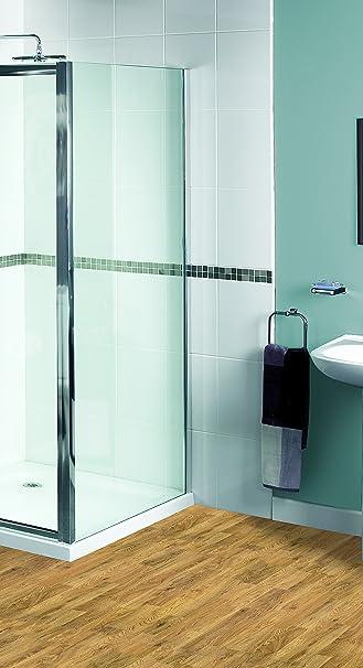 Aqualux 1160436 - Mampara de ducha (tamaño: 1850x700cm): Amazon.es ...