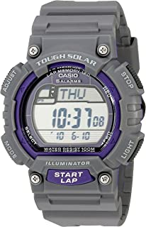 Casio Mens STL-S100H-8AVCF Digital Solar-Powered Gray Stainless Steel Watch with