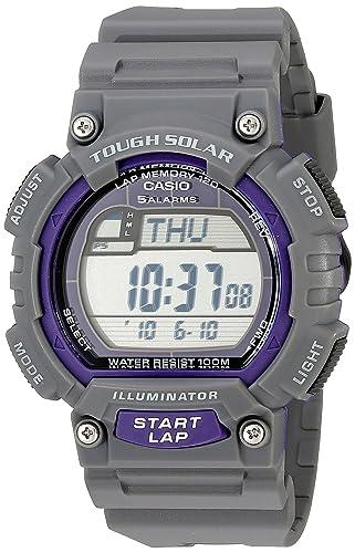 Reloj digital para hombre de Casio STL-S100H-8AVCF, con energía solar, de acero inoxidable, correa de resina, color gris: Amazon.es: Relojes