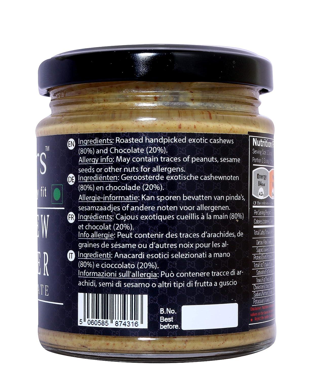 Mantequilla de anacardo Fitjars Chocolate-200g℮: Amazon.es: Alimentación y bebidas