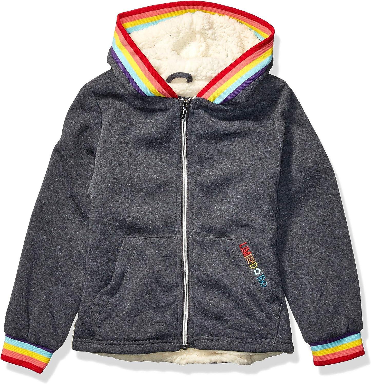 Limited Too Girls' Rainbow Rib Hoodie