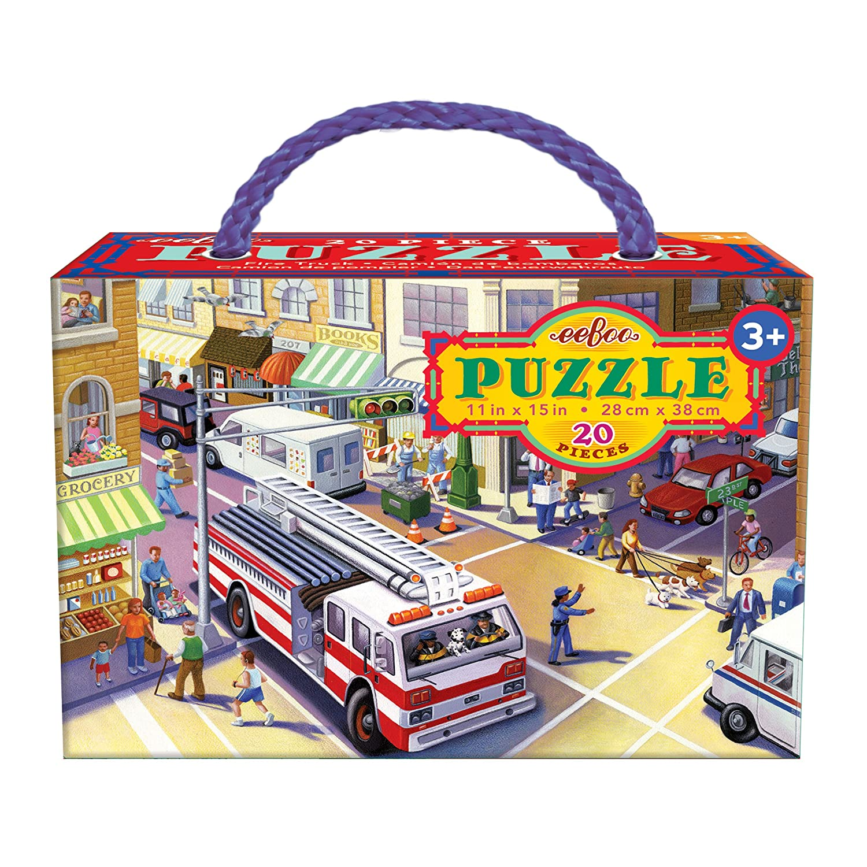 eeBoo Fire pieces Truck Puzzle for Kids, Kids, 20 for pieces B079HFM68W, fabric bird:f9879948 --- ero-shop-kupidon.ru