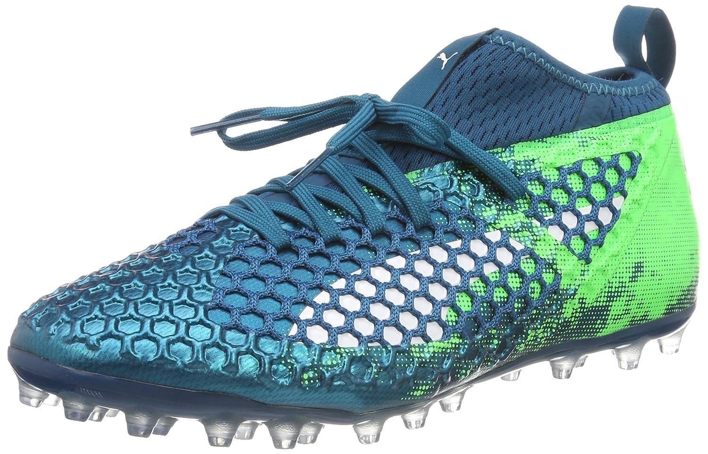 Puma Future 18.2 Netfit MG, Zapatillas de Fútbol para Hombre 47 EU|Azul (Deep Lagoon-puma White-green Gecko)