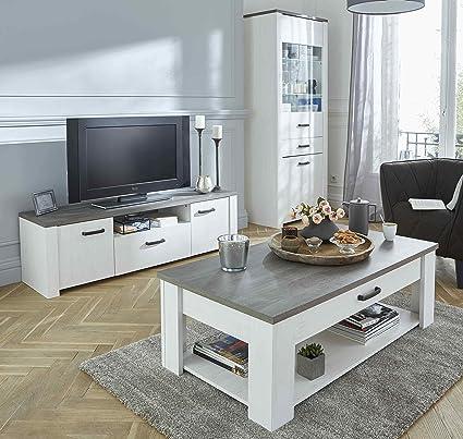 Miroytengo Pack Muebles salón Color Claro Mesa TV Mesa Centro ...