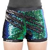 ASVP Shop Two Toned Reversible Mermaid Fishscale Sequin Shorts