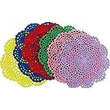 DODOGA 6pcs Doilies Cloth Lace Crochet Doilies Doilies for Tables Table Place Mats Placemats for Kitchen Coasters…