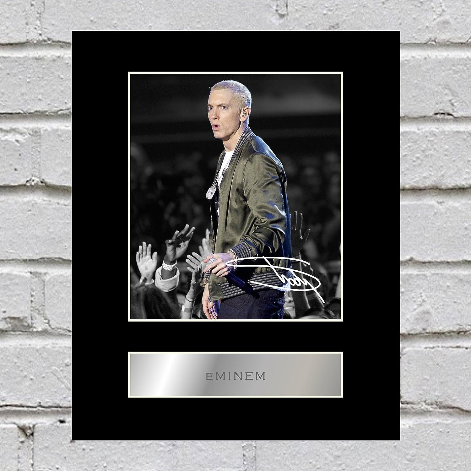 Eminem Signed Mounted Photo Display #2 Iconic pics