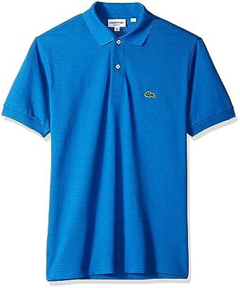 2b5960b67 Lacoste Men s Short Sleeve Pique Classic Fit Chine Polo Shirt