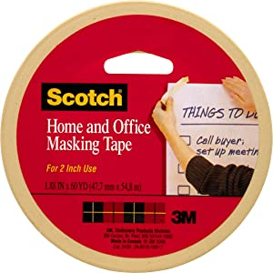 Scotch Home and Office Masking Tape, 1.88 inch x 60 Yards, 3439, 1 roll