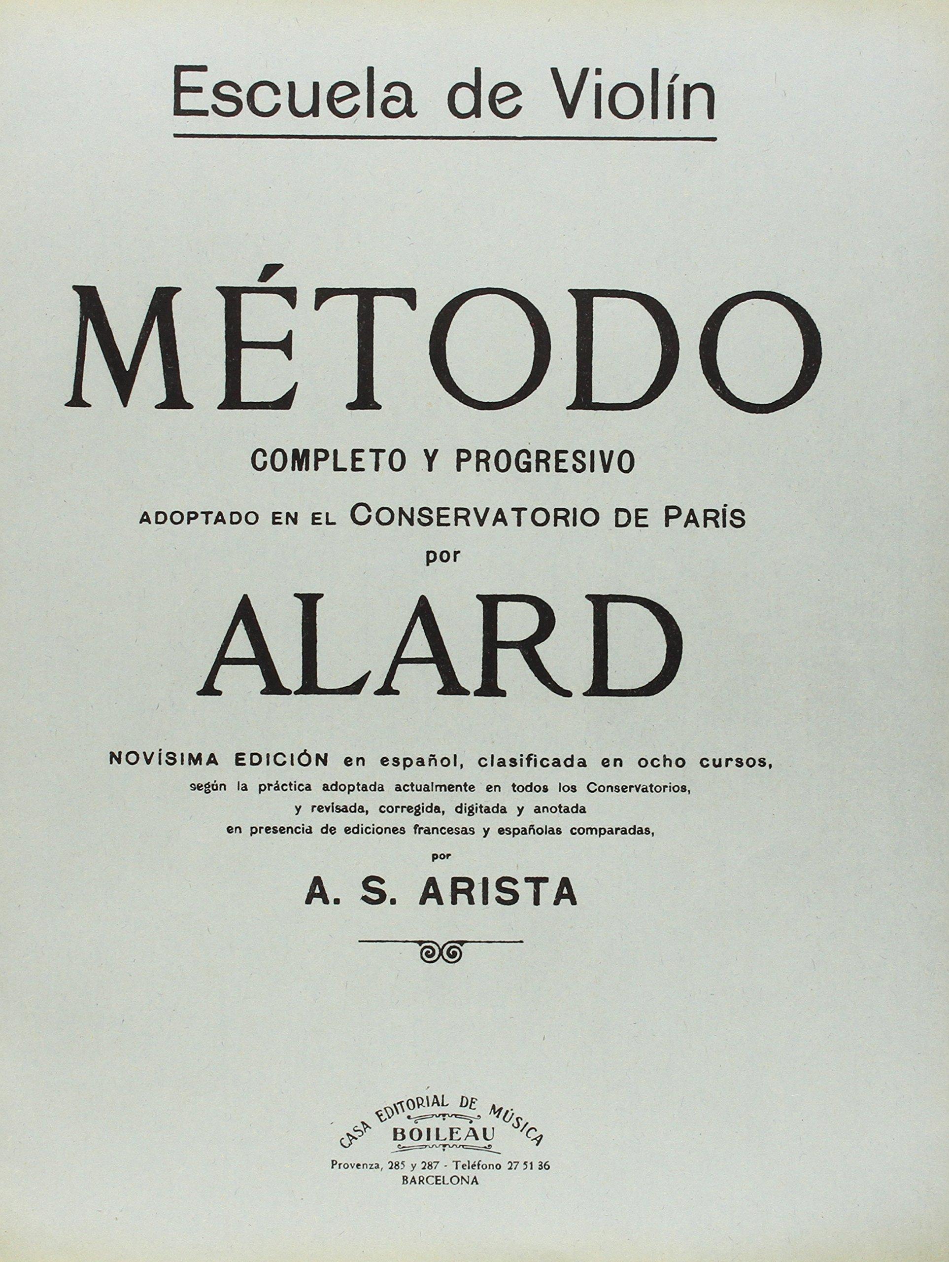 Método para Violín, Curso completo: Amazon.es: Alard, Jean-Delphin ...