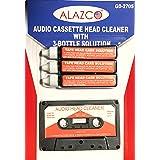Audio Tape Cassette Head Cleaner Demagnetizer w/ 3 Cleaning Fluids Care Wet Maintenance Kit by Alazco