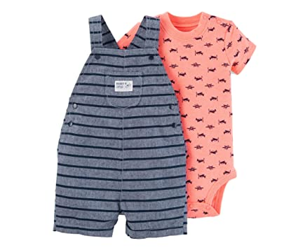 af10826be Carter's Just One You Baby Boys Airplanes/Stripes Shortall Set ...