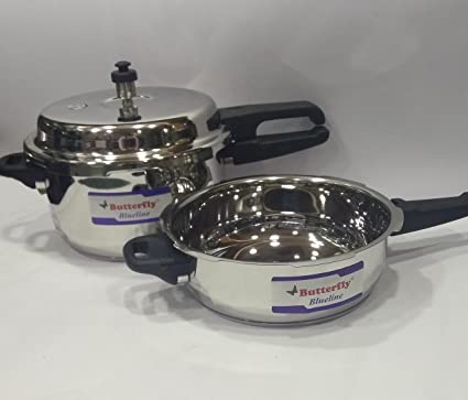 2b5504e9a Image Unavailable. Image not available for. Colour  Butterfly Combo of Stainless  Steel 5 L Pressure Cooker ...