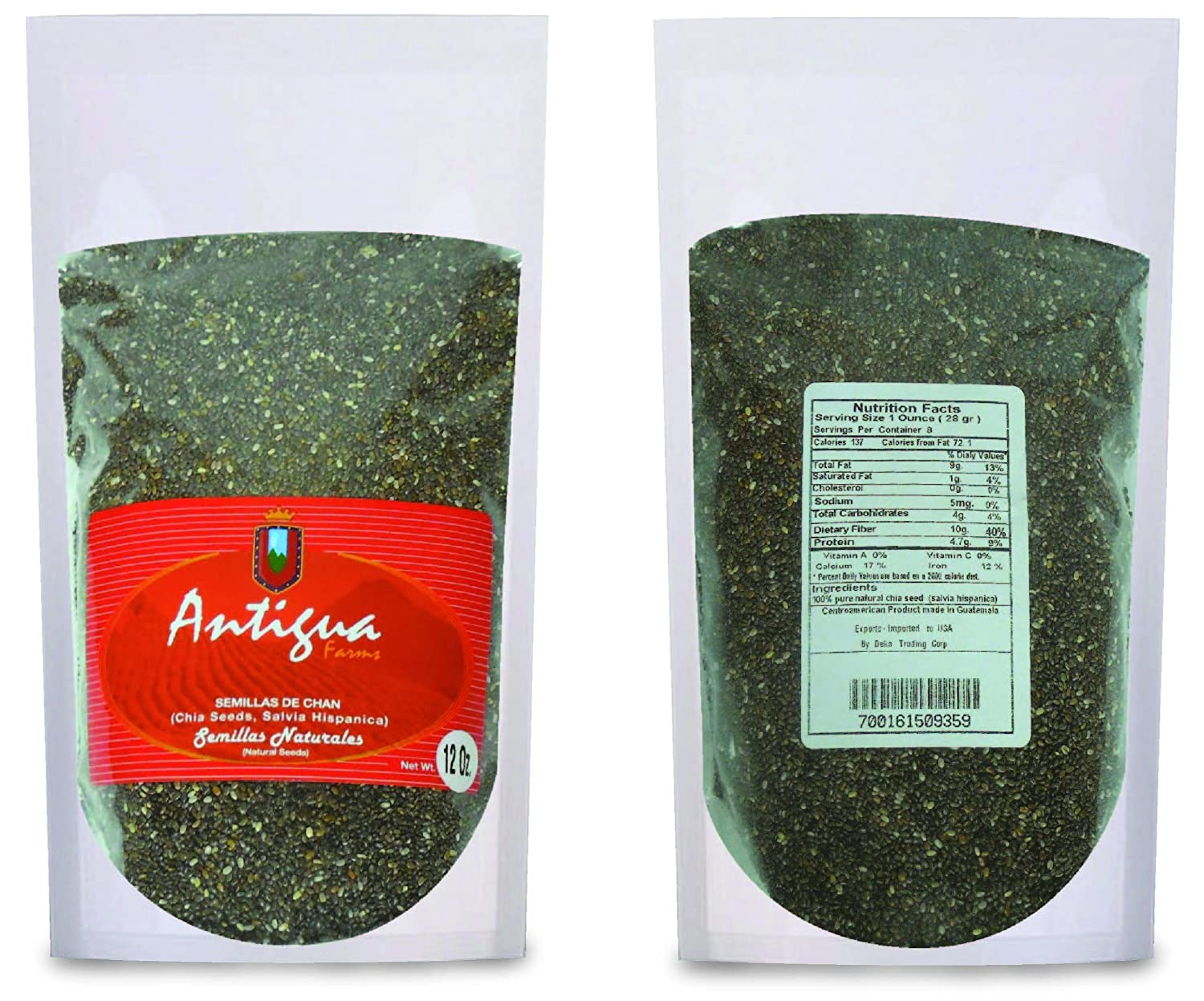 Amazon.com : Chia Seeds (Semillas De Chan, Salvia Hispanica) : Grocery & Gourmet Food