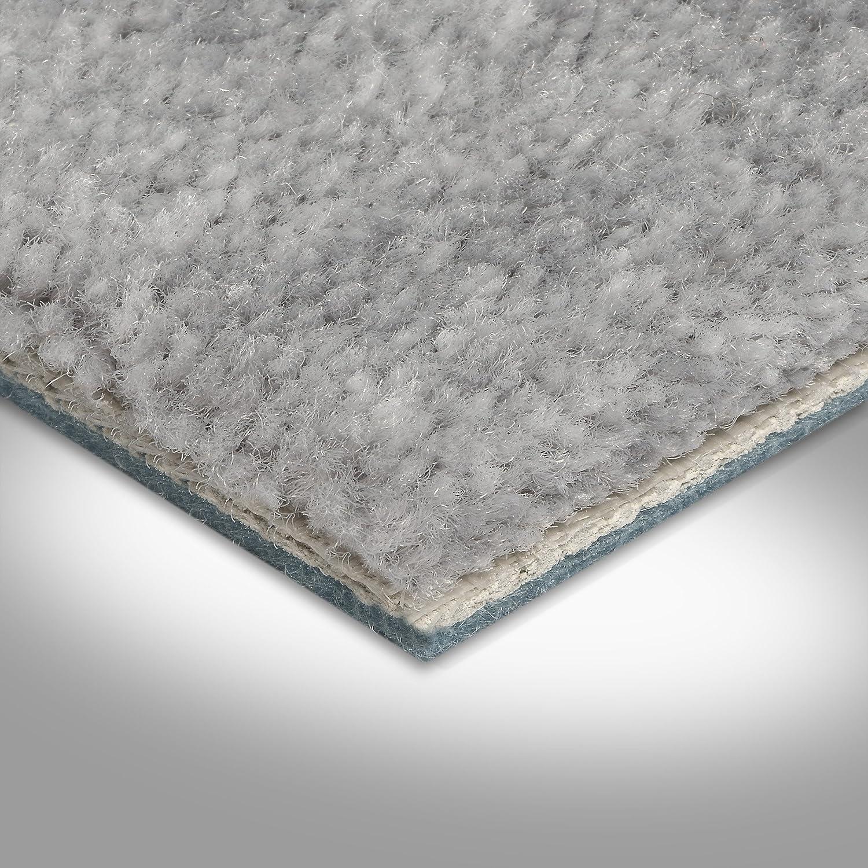 verschiedene L/ängen Teppichboden Auslegware Meterware Velour meliert grau 400 cm und 500 cm breit