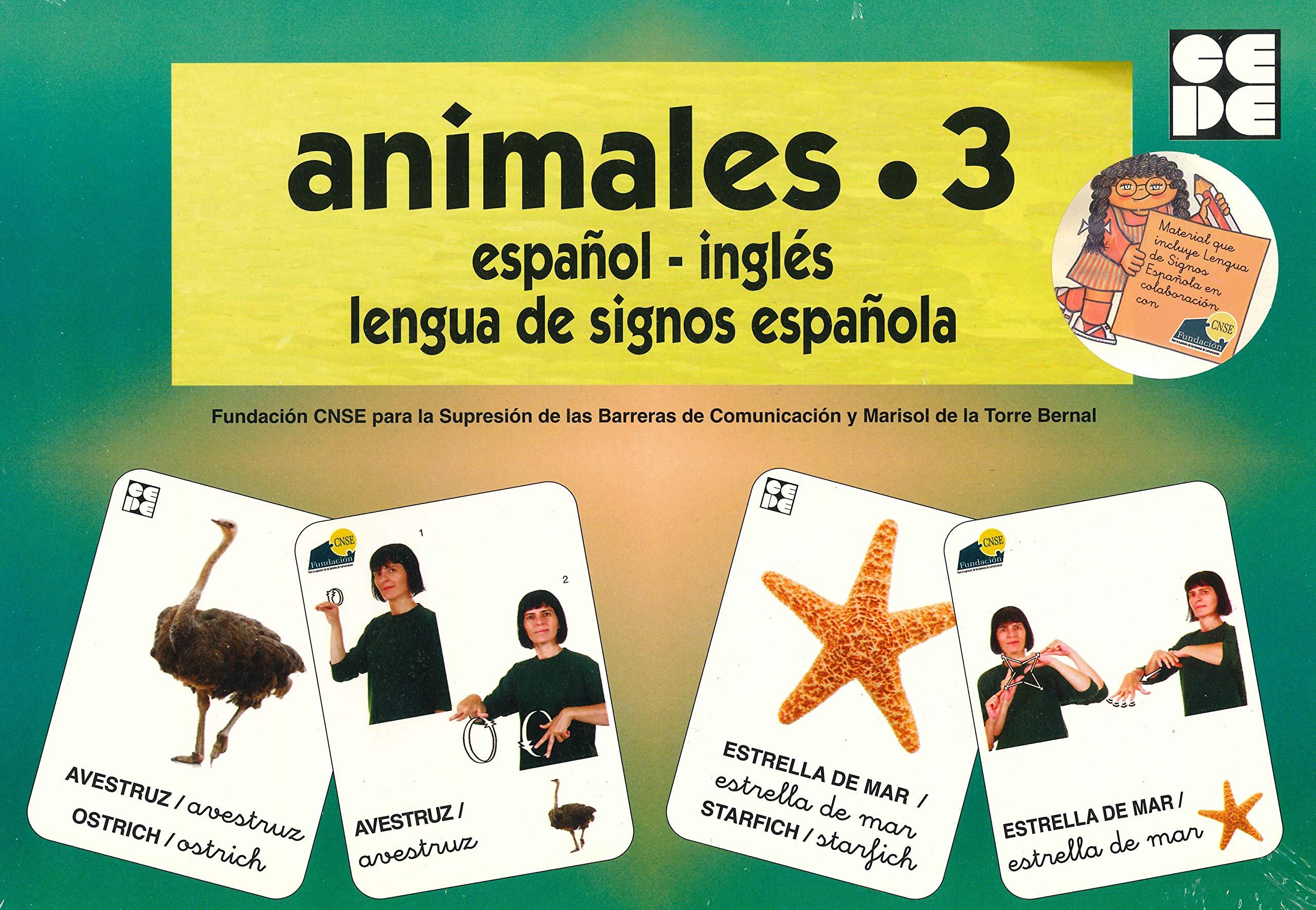 Vocabulario fotográfico elemental - Animales 3 marinos Vocabulario fotográfico elemental español,inglés,lengua de signos española: Amazon.es: CNSE, Fundación, de la Torre Bernal, Marisol: Libros