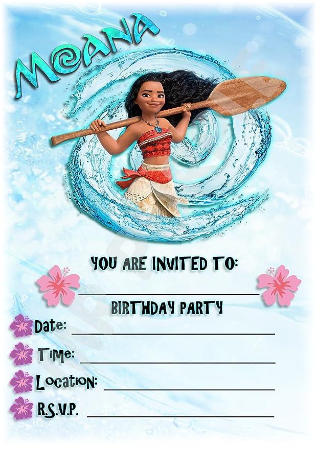Disney Moana fiesta de cumpleaños invitaciones - Splash ...