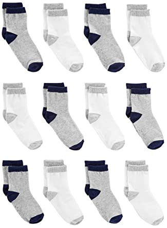 d1500bea6669 Amazon.com  Simple Joys by Carter s Baby and Toddler Boys  12-Pack ...