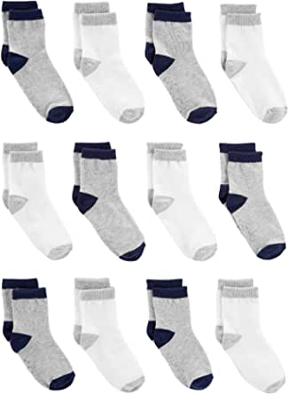 Simple Joys by Carter's Bebé Niños calcetines, Pack de 12