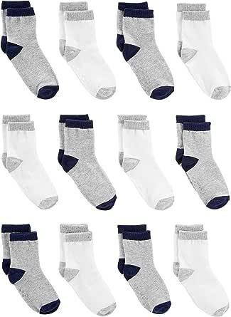 Simple Joys by Carter's 12 Unidades Sock Crew - Calcetines Bebé-Niños