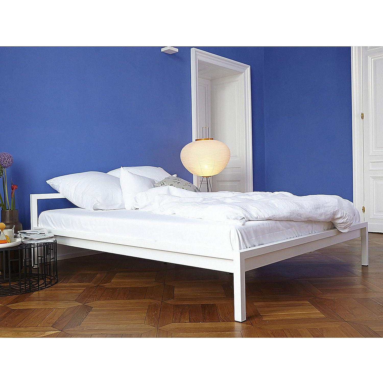 Luga Bett Stahl 160 X 200 Cm Weiss Gunstig Online Kaufen