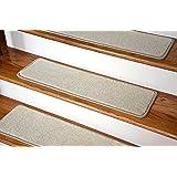 Dean Nylon Non-Slip DIY Carpet Stair Step Treads, Yacht Club Beige, 27-Inch-by- 9-Inch (Set of 15)