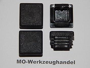 25 Lamellenstopfen Weiss 25x25 mm Wandstärke 1 bis 3 mm Endkappen Abdeckkappen