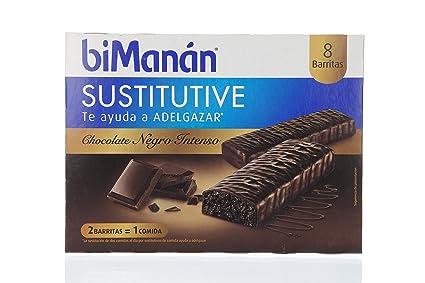Bimanán - Sustitutive Barritas Chocolate Intenso 8 uds