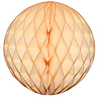 product image for 3-Pack 8 Inch Honeycomb Tissue Balls (Vintage Peach)