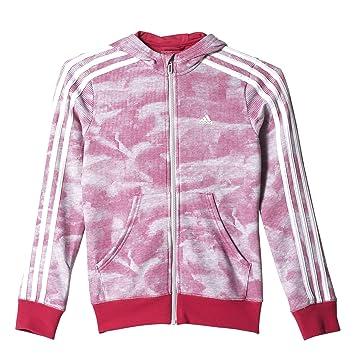 adidas YG ESS 3S FZ HD - Sudadera para niña, Color Gris/Rosa/Blanco, Talla 92: Amazon.es: Zapatos y complementos