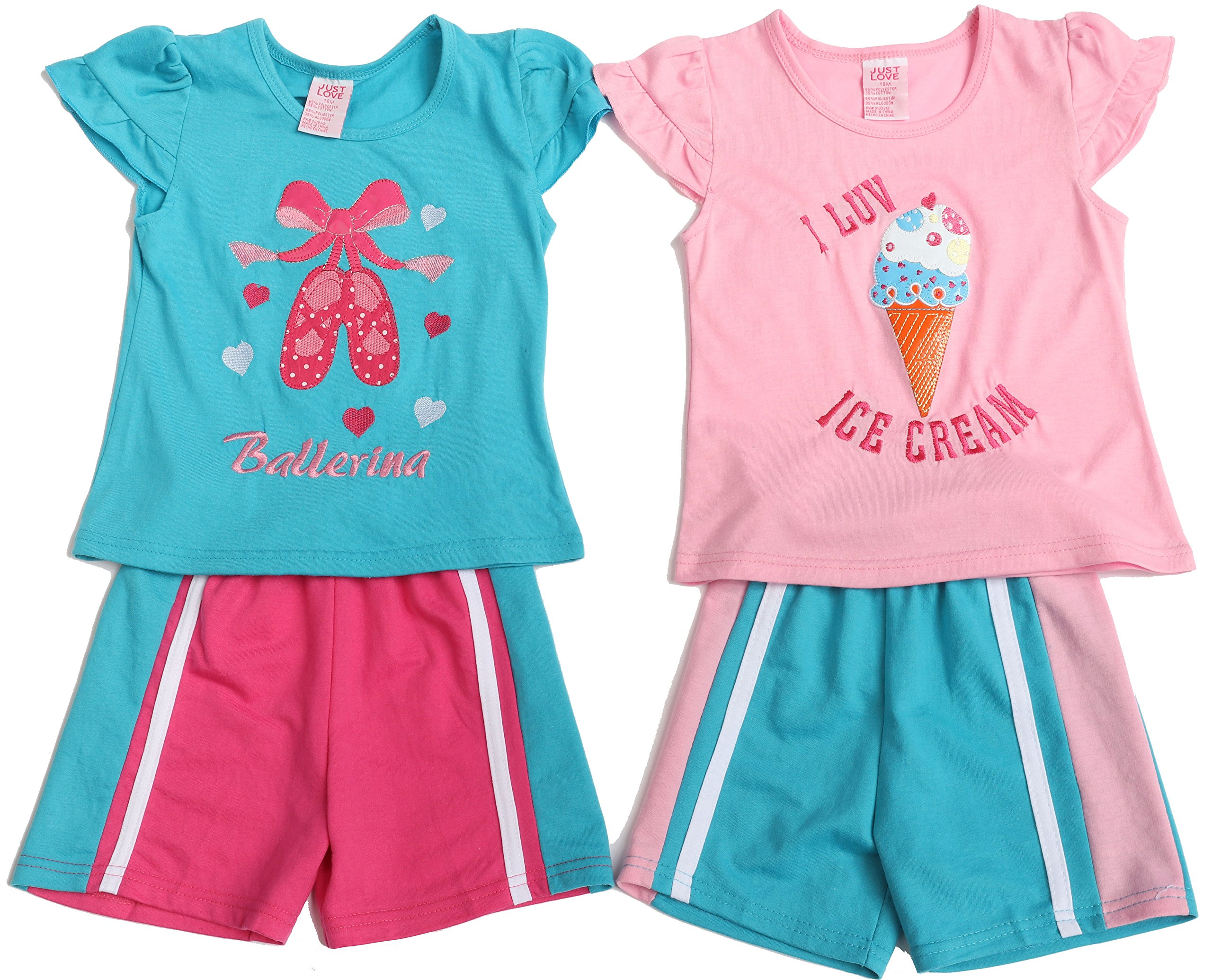 Just Love 44057-4T Two Piece Short Set (Pack of 2)