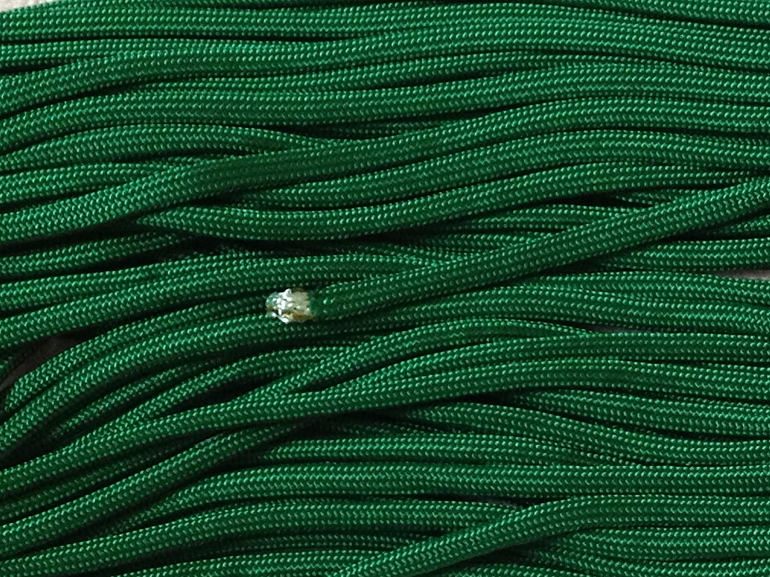 100FT Type III Kelly Green Paracord 550 Parachute Cord 7 Strand Made In USA