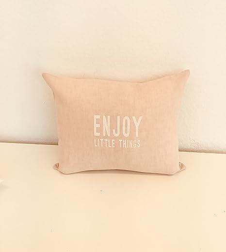 Lino almohada Texto Enjoy Little Things con relleno cojín ...