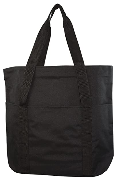 Large Spacious Poly Zipper Tote Bag
